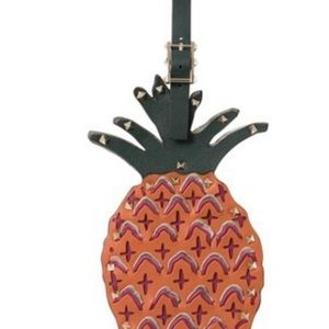 Valentino Leather Studded Pineapple Bag Charm